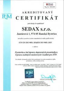 Cetifikát kvality podla ISO